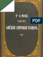 A. Musić - Nacrt Grčkih i Rimskih starina