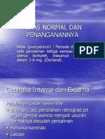 12-Nifas Normal Dan Penanganannya