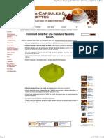 Comment Détartrer une Cafetière Tassimo Bosch