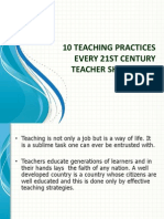 10 Teaching Practices Every 21st Century #English Teacher Should