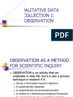 1 Observation (Reseach)