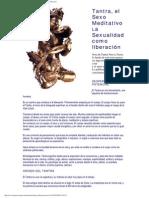 Tantra El Sexo Meditativo-La Sexualidad Como Liberacion
