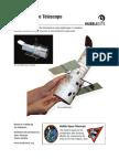Hubble Space Telescope Paper Model NASA Pattern