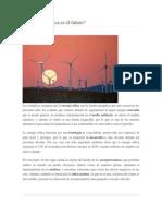 La energía eólica es el futuro