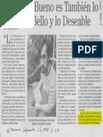 Chihuailaf(1998)_Lo bueno es también lo bello y lo deseable_El Mercurio Valparaiso
