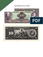 Banco Central de Venezuela. Diez Bolívares. Bank note (1992).