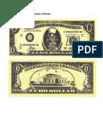 Cildo Meireles. Zero Dollar (1978-84)