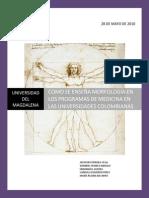 COMO SE ENSEÑA MORFOLOGÍA EN LOS PROGRAMAS DE MEDICINA EN LAS UNIVERSIDADES COLOMBIANAS.pdf