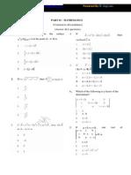 Tancet Mathematics