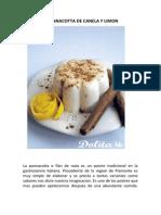 Receta de Pannacotta