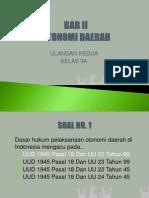Ulangan harian Pkn Kls 9 - Otonomi Daerah - Part 2
