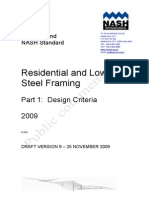 Residential and Low-rise Steel Framing NZ-Public Comment