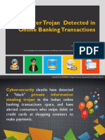 dexter trojan  detected in online banking transactions