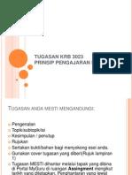 Tugasan Krb 3023 Prinsip Pengajaran Penulisan