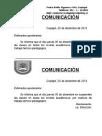 Comunicacion Suspension Jueves