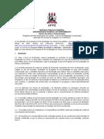 Edital de Selecao 2013 Doutorado Mestrado