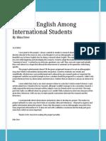 Usage of English
