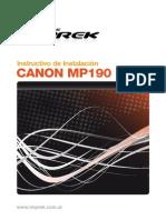 Instalacion Canon Mp190