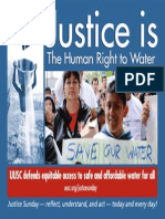Justice Sunday 2012 — Justice Is The Human Right To Water
