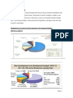 Government Budget in context ob bangladesh