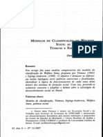 Modelos de Clasificacion de Esping Andersen