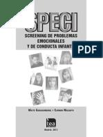 Speci, Screening de Problemas Emocionales y de Conducta Infantil