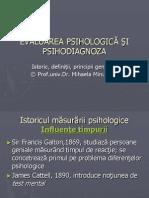 Curs I B Psihodiagnoza Istoric Si Definitii