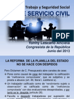 Ley de Servicio Civil (Tres) 25jun13