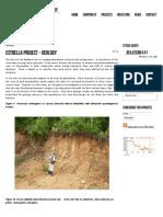 Geology Estrella Mine South of Bolivar -Norosi