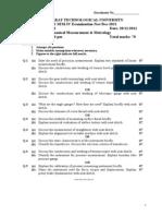 141111-141901-Mechanical Measurement and Metrology