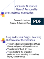 Lecture Personality and Interest Inventories 8
