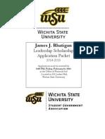 2014-2015 James Rhatigan Scholarship
