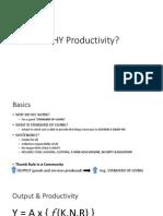 Enhancing Productivity