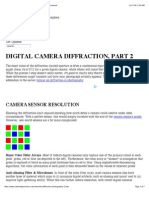 Digital Camera Diffraction – Resolution, Color & Micro-Contrast