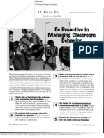 Be Proactive in Managing Classroom
