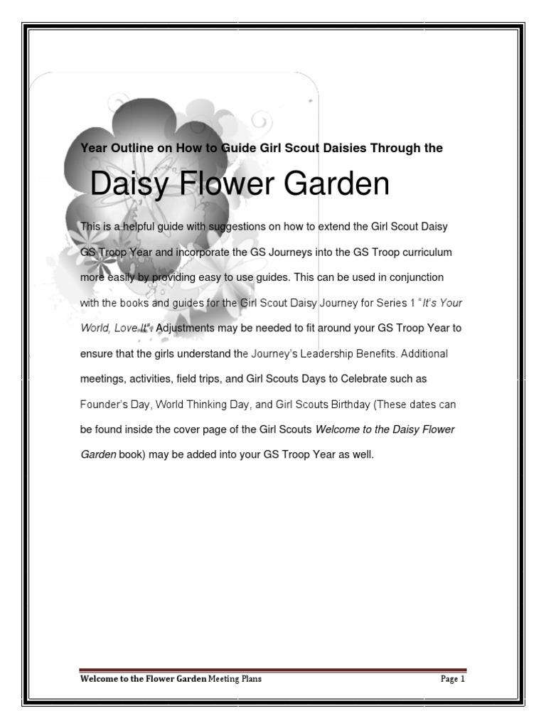 d1 - daisy flower garden meeting plans | scouting | flowers