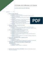 Ley Orgánica 5 2002 de cualificaciones y formación profesional