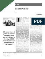 Technology and Innovation 12th Plan Yojana April 2013