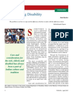 Understanding Disability Yojana April 2013