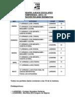 CALENDARIO JUEGOS ESCOLARES 13-14
