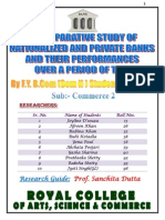 A Comparative Study of Nationalized & Pvt Banks and Their Performances Over a Period of Time