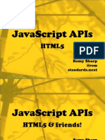 JavaScript APIs HTMLs