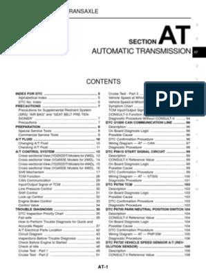 Nissan Navara Workshop Manual - Automatic Transmission