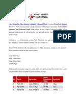 Cara Mendaftar Paket Internet Unlimited Telkomsel Flash