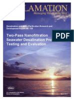 Report158 Two Pass Nanofiltration Seawater Desalination