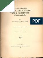 Dr. Szentkláray Jenő - Újabb részletek a Délmagyarországi Török hódoltság történetéből