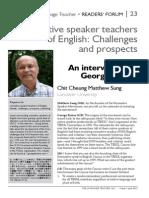 Non native teachers