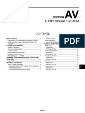 Audio-Visual System: Section