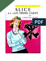 Caroline Quine Alice Roy 28 BV Alice Et Les Trois Clefs 1951