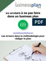 69 erreurs à ne pas faire dans un business plan